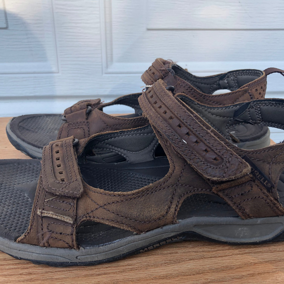 MERRELL Other - MERRELL MEN'S BROWN LEATHER SANDALS SIZE11.5